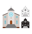 churches buildings set vector image vector image