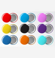 circle button badge blank round pinned plastic or vector image