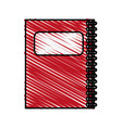 color crayon stripe cartoon red notebook spiral vector image vector image