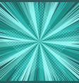comic book page turquoise template vector image
