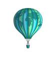 conceptual art hot air balloon with world map vector image