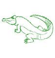 crocodile big reptile vector image vector image