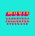 decorative serif extra bulk font vector image
