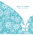 decorative snowflake frost Christmas gift box vector image vector image