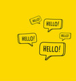 doodle style speaking bubbles vector image