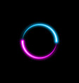 dynamic circle neon effect sci-fi futuristic sign vector image