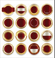empty gold silver and red labels collection vector image vector image