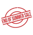 End Of Summer Sale rubber stamp vector image vector image