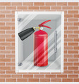 fire extinguisher in wall niche realistic vector image vector image