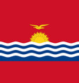 flag of kiribati official colors and proportions vector image vector image