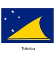 Flag of the country tokelau vector image