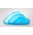 Glass multilayered cloud vector image vector image