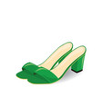 green sandals with open back vector image