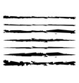 grungy textured brush strokes rip scratch vector image vector image