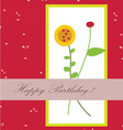 Happy birthday with flower beautiful vector image vector image