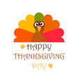happy thanksgiving day banner or poster greeting vector image vector image