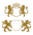 Heraldic Crests Silhouettes vector image vector image