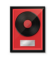 hit vinyl in frame on wall collection disc vector image vector image