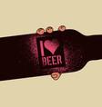 i love beer beer stencil spray grunge poster vector image vector image