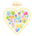 i love mom greeting card mothers day poster vector image