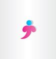 letter t man logo t icon design symbol vector image vector image