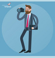 man with dslr camera vector image