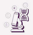 microscope and medical design vector image