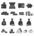 Money Cash and Coin Icons Collection vector image vector image