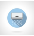 Monoblock air conditioning round flat icon vector image vector image