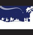 nativity scene monocrome vector image vector image