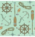 Nautical background Marine pattern vector image