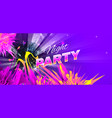 night party bright colorful purple theme vector image vector image