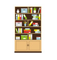 office bookcase with books and folders vector image vector image