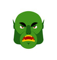 ogre angry emoji goblin evil emotion isolated vector image