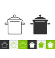pan simple black line icon vector image vector image