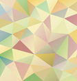 pastel colors abstract polygon triangular pattern vector image vector image