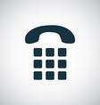 phone dial icon vector image