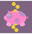 Pig-and-Money-Icon vector image vector image