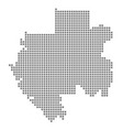 pixel map of gabon dotted map of gabon isolated vector image vector image