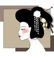 portrait geisha vector image