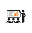 presentation business concept logo vector image