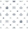 purchase icons pattern seamless white background vector image vector image