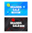 set advertising banners with brands sale vector image