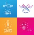 set logo design elements vector image