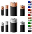 set of batteries vector image vector image