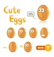 set of cute easter eggs vector image vector image