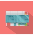 Shopping Mall Web Template in Flat Design vector image