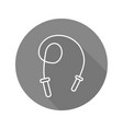 skipping rope flat linear long shadow icon vector image vector image