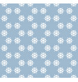 snowflakes seamless pattern delicate blue white vector image