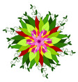 stock abstract multicolored flower vector image vector image